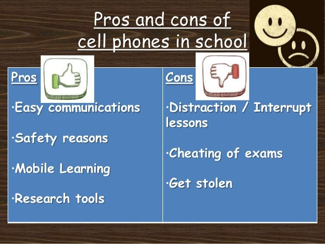 pros and cons of cell phones essay Like many technologies, cell phones are mixed blessings they keep us from being stranded for hours on the side of the road, but can be distracting while driving, which may lead to accidents -- although you can, at least, call emergency services immediately with your cell phone if the distraction led to the accident.