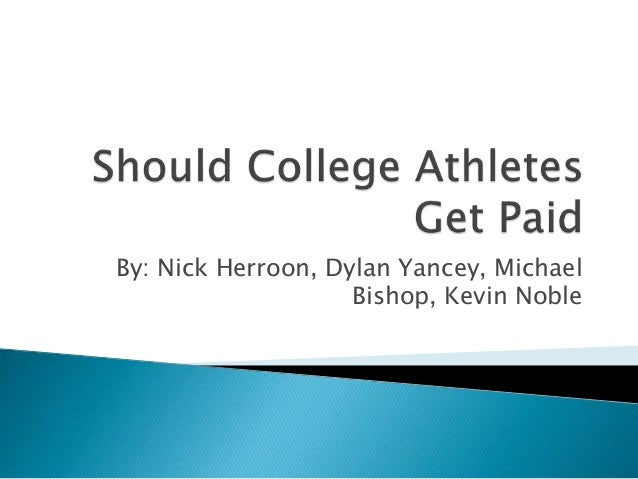 essays on college athletes Paying college athletes a salary has become a popular idea but most are better  off with tax-free scholarships, the way it works now.