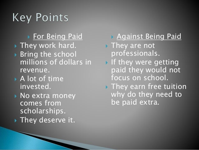 Should College Athletes Be Paid Essay Thesis