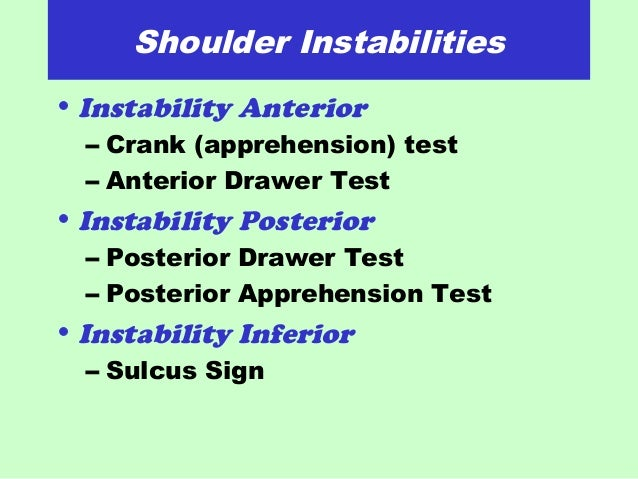 Anterior Drawer Test Shoulder Drawer Test Shoulder Images