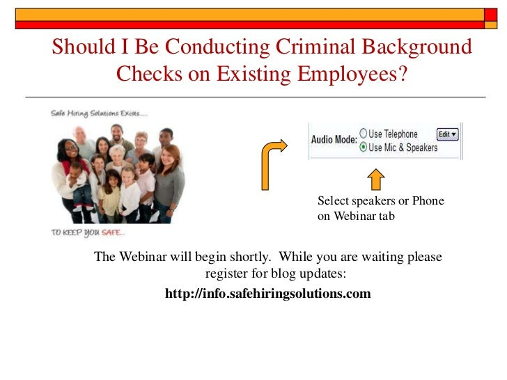 Should I Be Conducting Criminal Background      Checks on Existing Employees?                                          Sel...