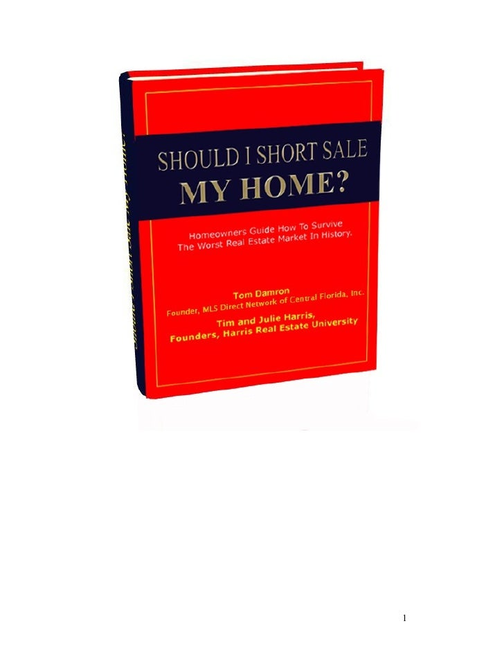 Should I Short Sale My Home - Chapter 8