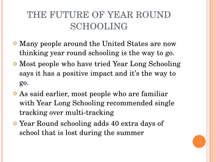 year round schooling speech