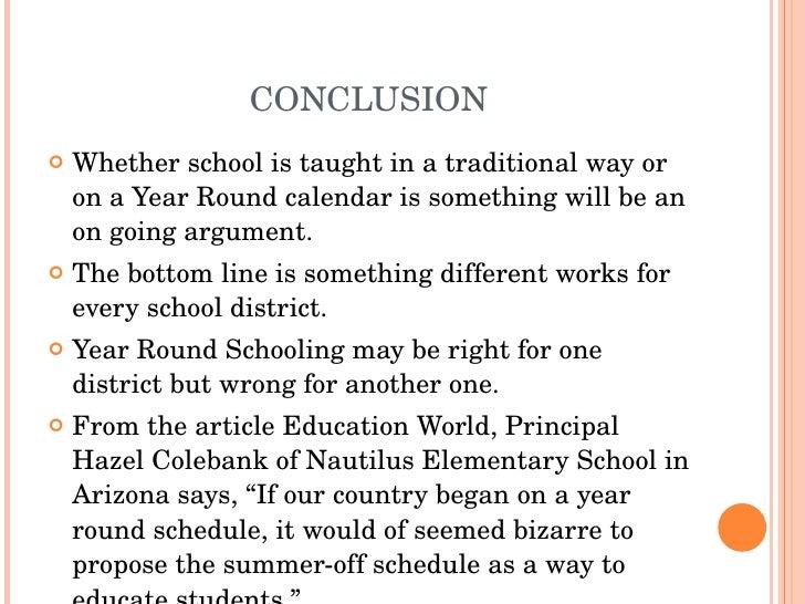 year round school argumentative essay