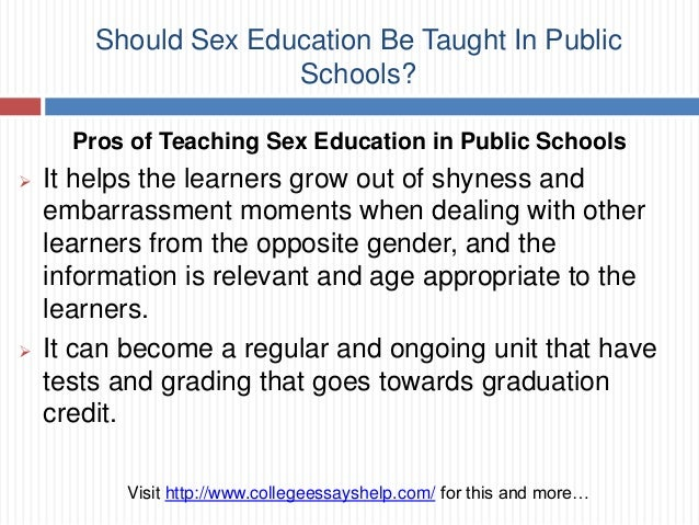 essay on sex education in schools argumentative essay sex education in schools