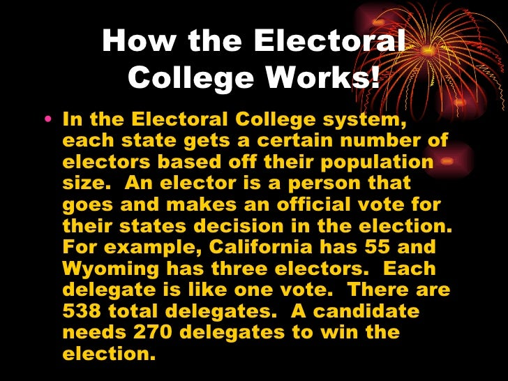 reasons for electoral college