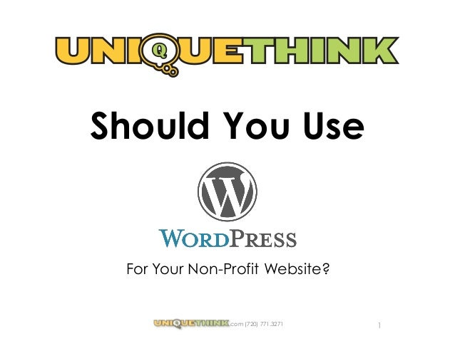 Should you use WordPress for your non-profit websites?