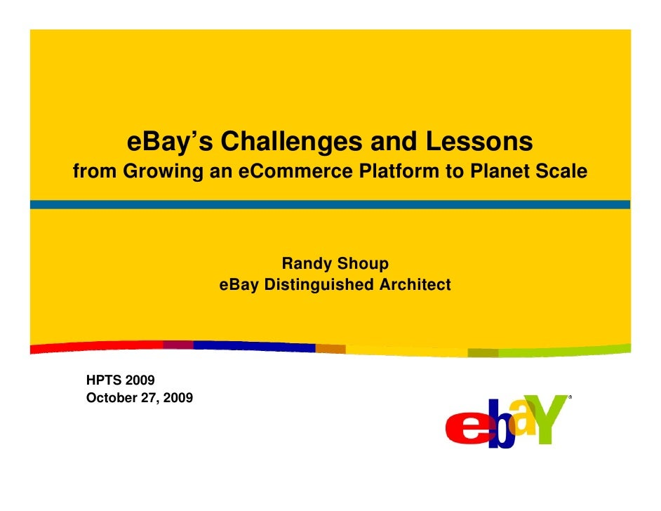 eBay's Challenges and Lessons
