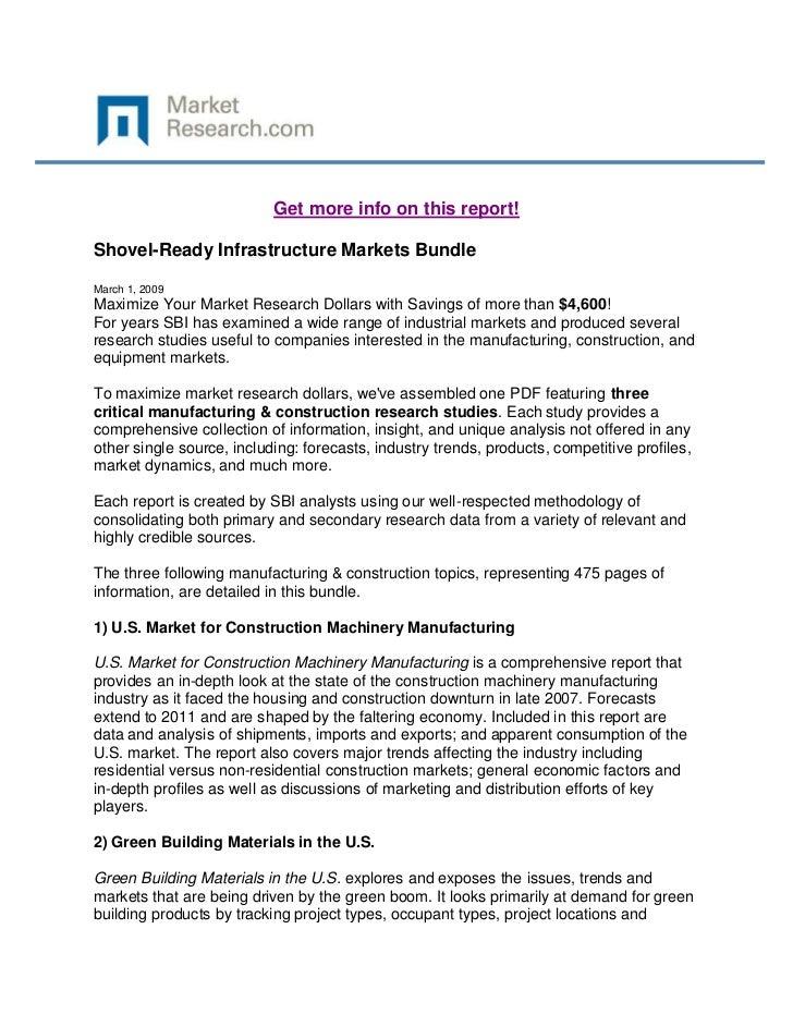 Shovel ready infrastructure markets bundle