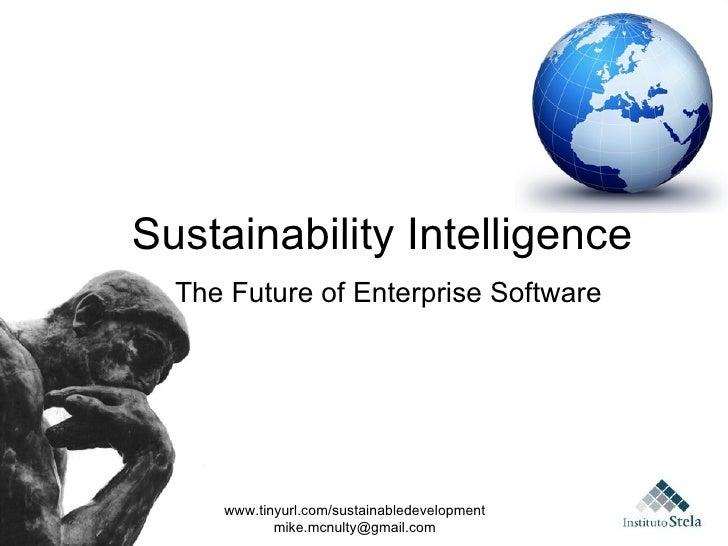Instituto Stela S&T#008, Sustainability intelligence: the future of enterprise software?