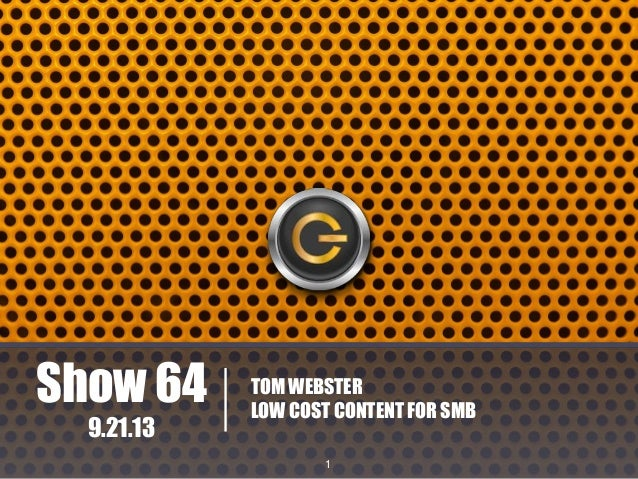 Show 64 | Tom Webster | Edge of the Web Radio