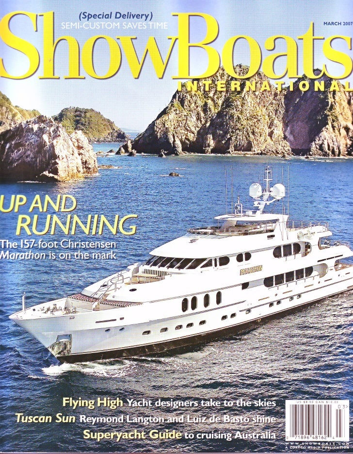 Showboats International Magazine Article - Superyachts Down Under by Mark Cairney