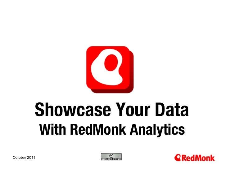 Showcase Your Data w/ RedMonk Analytics