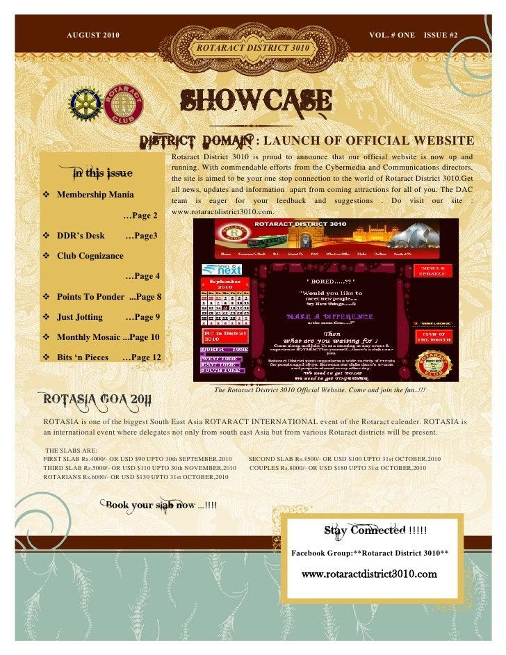 Showcase august 2010