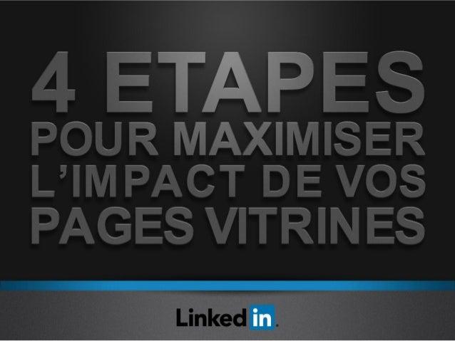 VOICI UN PAGE VITRINE Une nouvelle façon de présenter vos marques individuellement  Les Pages Vitrines sont une extension ...