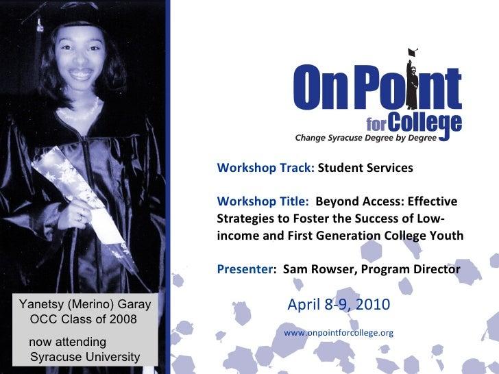 Showcase Session: College Access & Retention
