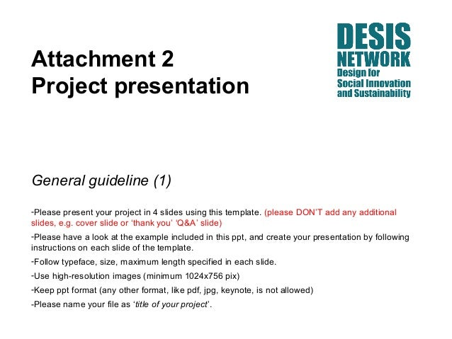 Attachment 2Project presentationGeneral guideline (1)-Please present your project in 4 slides using this template. (please...