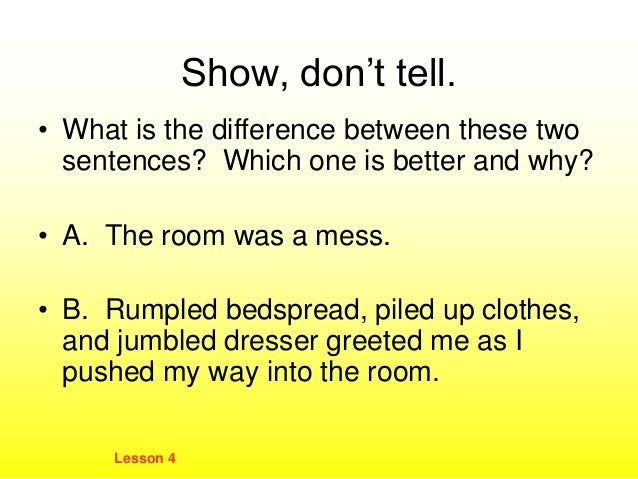 Show not tell sentences lessons tes teach show dont tell specific concrete details m4hsunfo