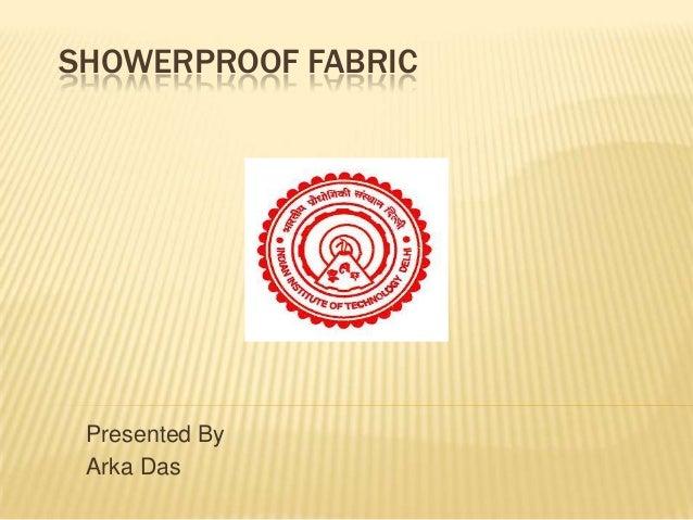 Showerproof fabric