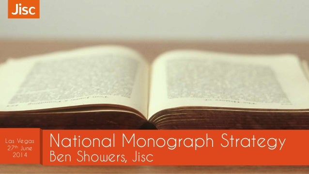 National Monograph Strategy
