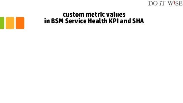 custom metric values in BSM Service Health KPI and SHA