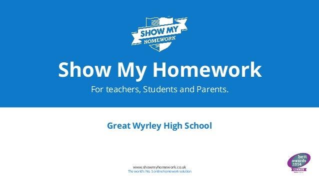 Show my homework help