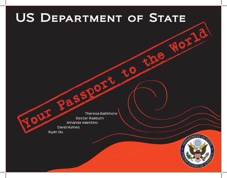 U.S. Dept of State Showpiece