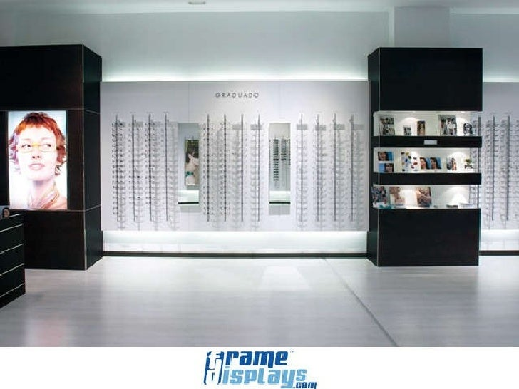 Frame displays optical store display samples for Optical store designs interior