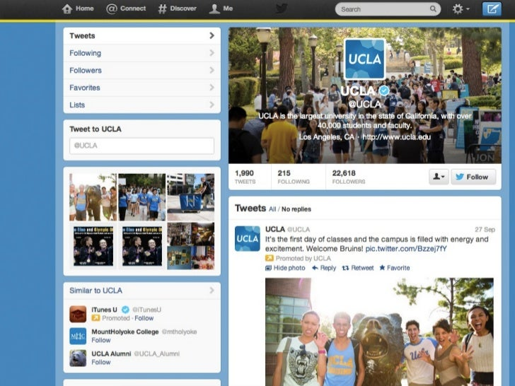 Show your school colors with twitter's new layout