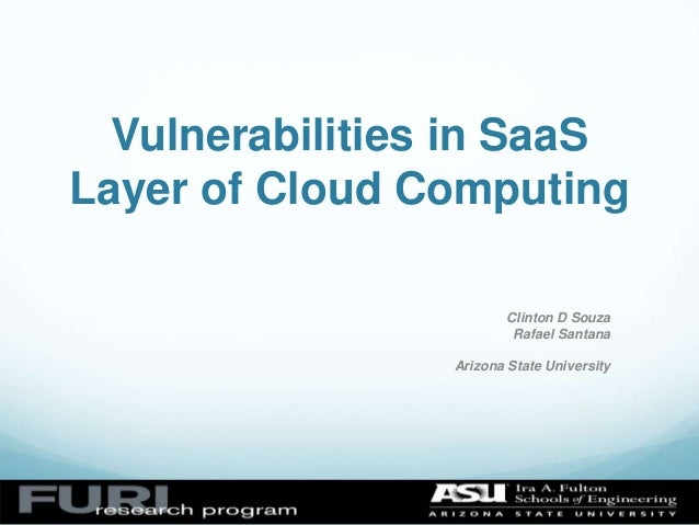 Vulnerabilities in SaaS layer of cloud computing