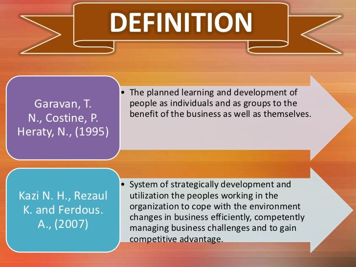 definition scope and importance of human resource development Human development is the science that seeks to understand how and why people of all ages and circumstances change or remain the same over time.