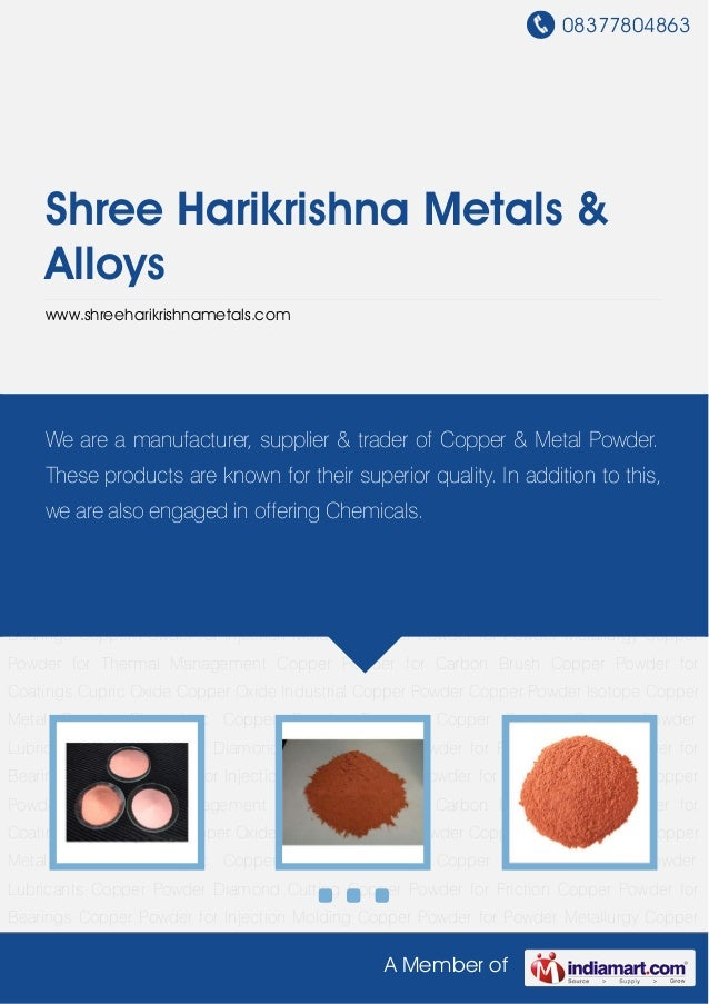 Industrial Copper Powder by Shree harikrishna metals alloys