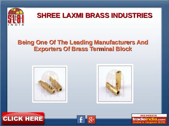 Brass Terminal Block Exporter, Manufacturer, SHREE LAXMI BRASS INDUSTRIES, Gujarat