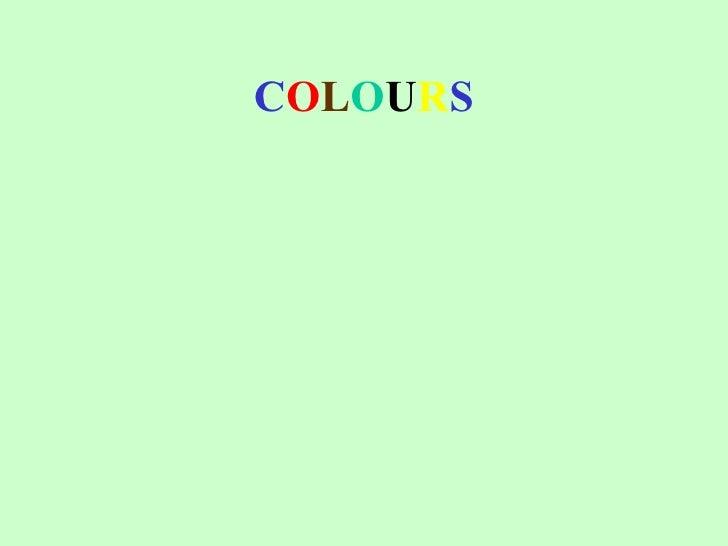 Shrek 1 - colours