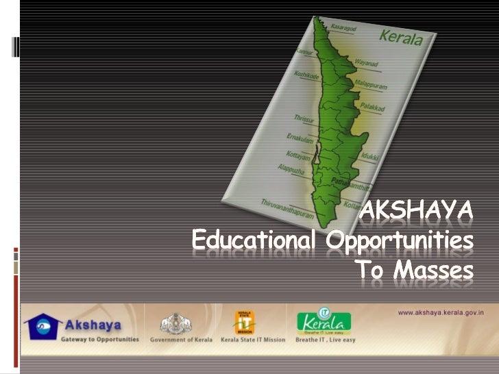 Experience sharing by Shri  Korath Mathew on e-Learning, Director, Akshaya Centers, Kerala