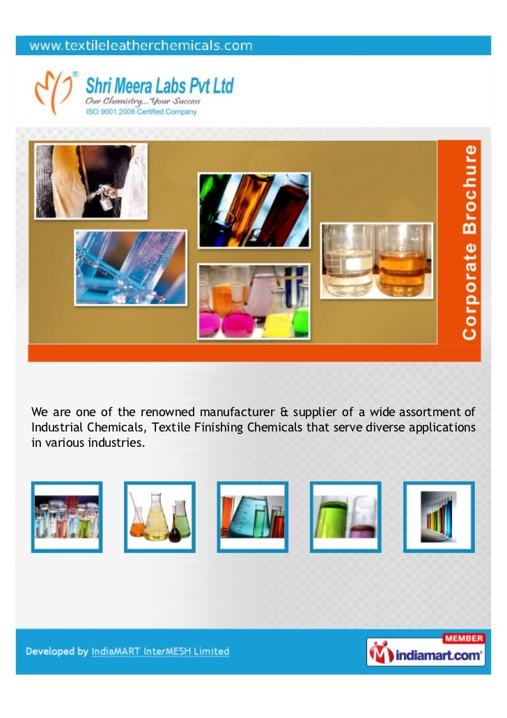 We are one of the renowned manufacturer & supplier of a wide assortment ofIndustrial Chemicals, Textile Finishing Chemical...