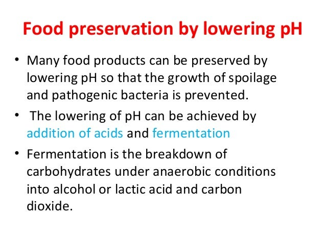 The Effect of Ph on a Food Preservative