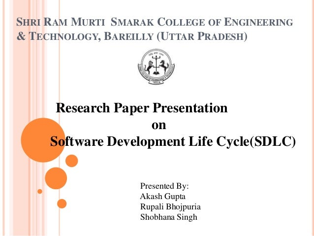 research papers on sdlc models Software development life cycle analysis - abstract early detection of faults in software development life cycle (sdlc) can significantly reduce the cost and shorten the time to deliver a certain product to market.