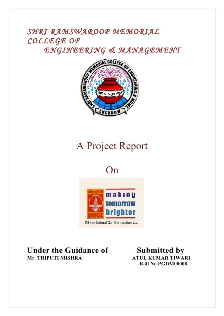 SHRI RAMSWAROOP MEMORIAL COLLEGE OF    ENGINEERING & MANAGEMENT                     A Project Report                      ...