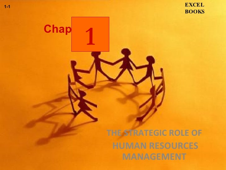 Chapter THE STRATEGIC ROLE OF  HUMAN RESOURCES MANAGEMENT   EXCEL BOOKS 1-1 1