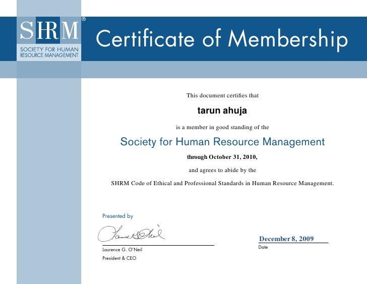 Certificate of Membership                                         This document certifies that                            ...