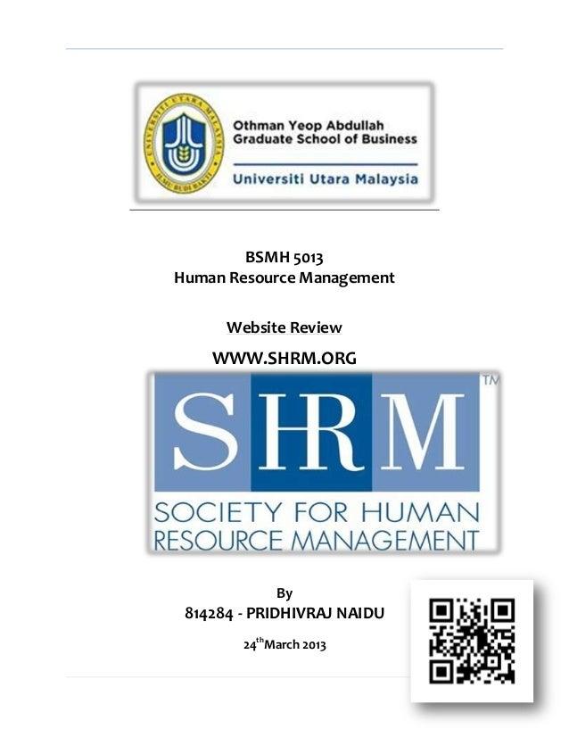 SHRM Website Review