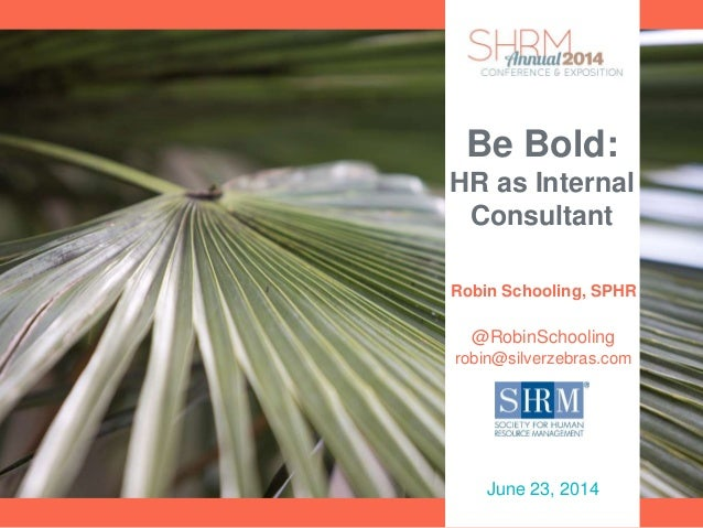 Be Bold: HR as Internal Consultant