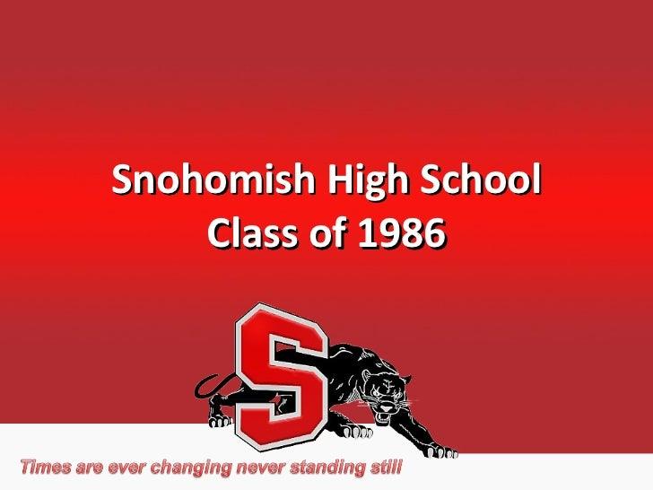 Snohomish High School Class of 1986
