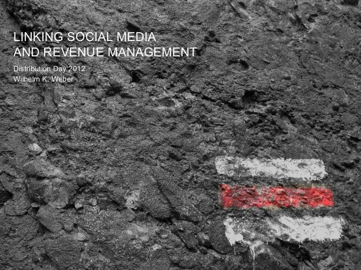 LINKING SOCIAL MEDIAAND REVENUE MANAGEMENTDistribution Day 2012Wilhelm K. Weber