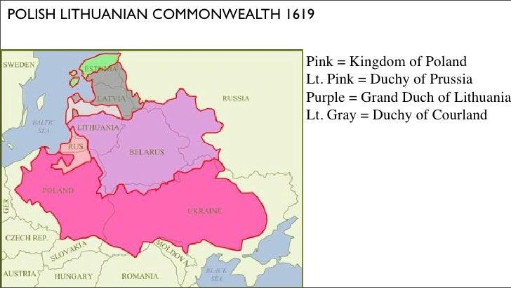POLISH LITHUANIAN COMMONWEALTH 1619                                     Pink = Kingdom of Poland                          ...