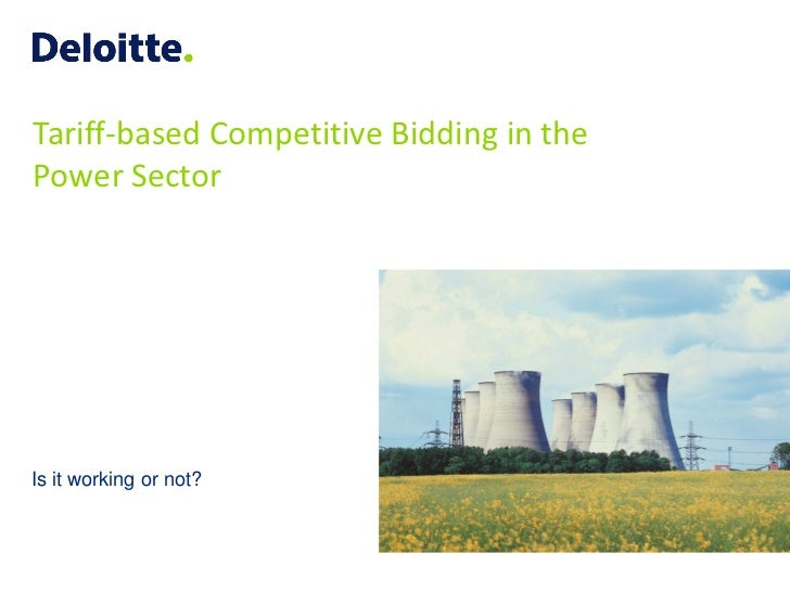 Tariff-based Competitive Bidding in the Power Sector