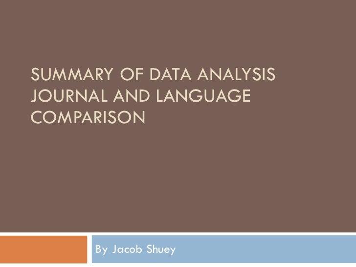 Language Comparison Powerpoint