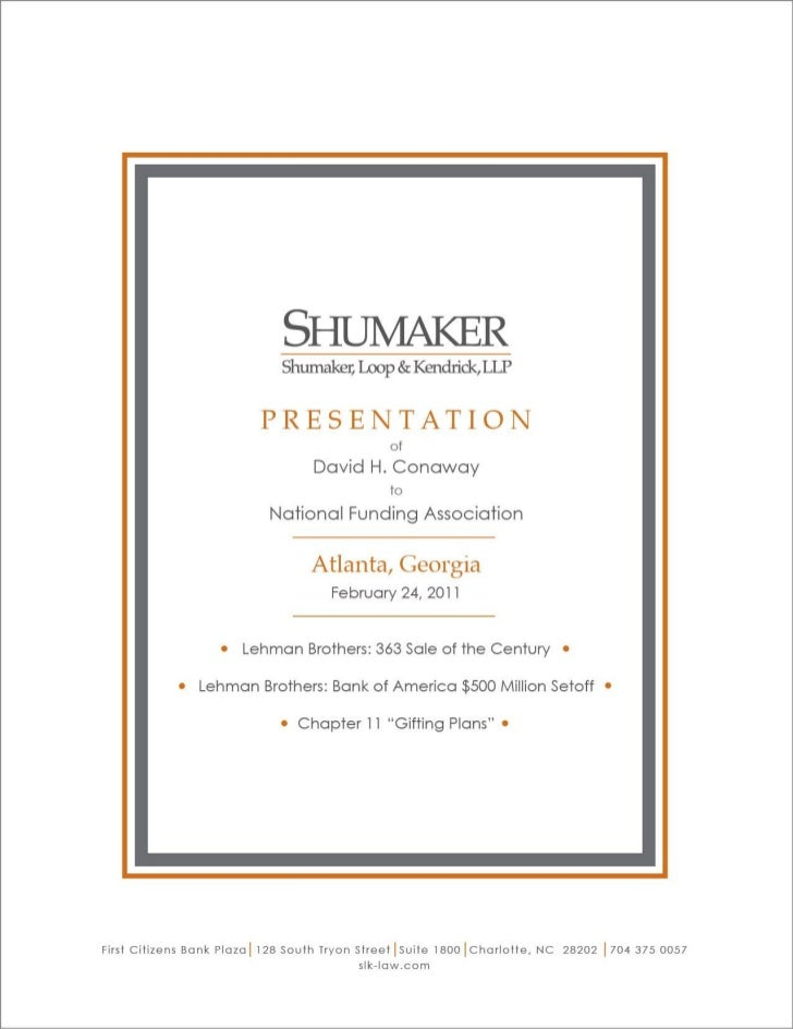 Shumaker Speaking Event-Atlanta, GA 2/24/2011