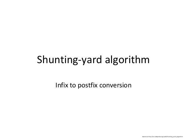 Shunting yard